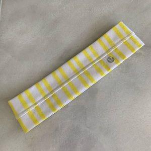 Yellow and white lulu lemon Headband